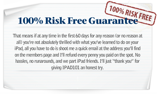 Learn how to use the iPad guarantee